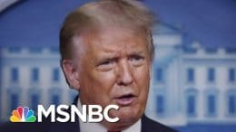 Trump Says COVID-19 Is Receding (It Isn't), Still Has No National Plan | The 11th Hour | MSNBC 5