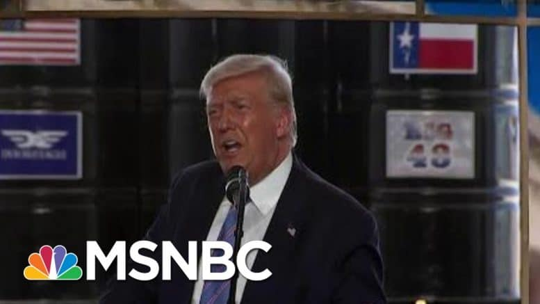 Trump In Texas: Radical Democrats Want To 'Incite Riots' | MTP Daily | MSNBC 1