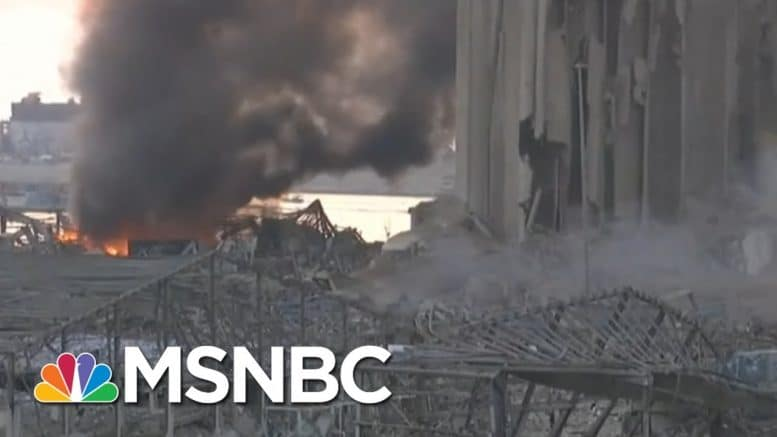 Beirut Explosion Comes While Hezbollah Members On Trial For PM's Death | Andrea Mitchell | MSNBC 1