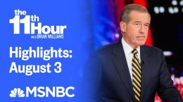 Watch The 11th Hour With Brian Williams Highlights: August 3 | MSNBC 4