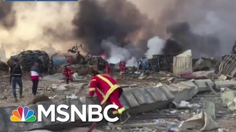 Lebanese Prime Minister Calls For An Investigation Into Beirut Explosion | MTP Daily | MSNBC 1