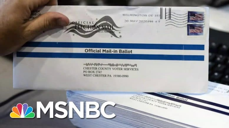Trump Stokes Fears Of Mail-In Voting Fraud While Telling Floridians To Vote By Mail | MSNBC 1