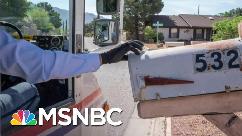 Sen. Peters Launches Investigation Into Postal Service Slowdown | All In | MSNBC 1