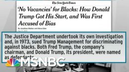 Trump Drops Subtlety In Racist Pitch To Protect 'Suburbs' | Rachel Maddow | MSNBC 7