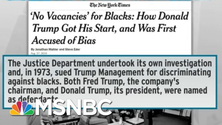 Trump Drops Subtlety In Racist Pitch To Protect 'Suburbs' | Rachel Maddow | MSNBC 1