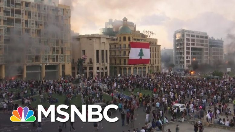 Demonstrators and Security Forces Clash In Beirut | MSNBC 1