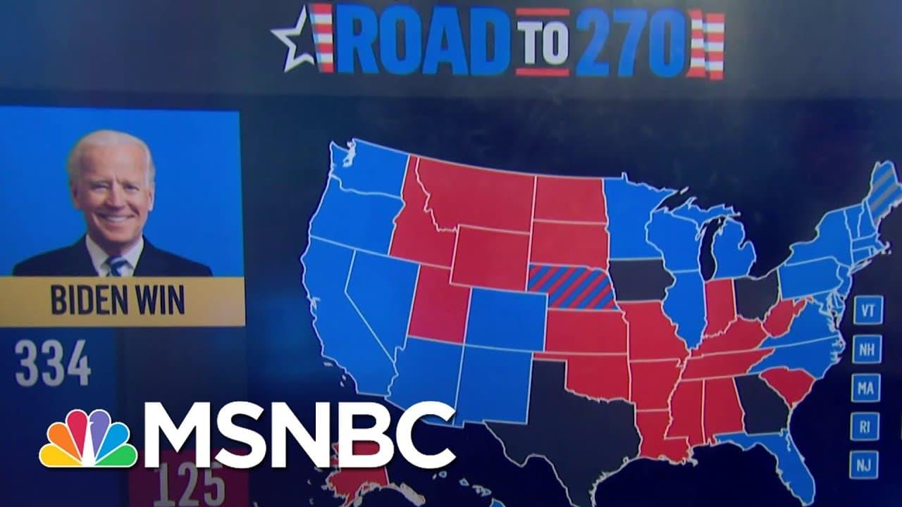 Biden Leads In 2020 Battleground Map   MSNBC 5