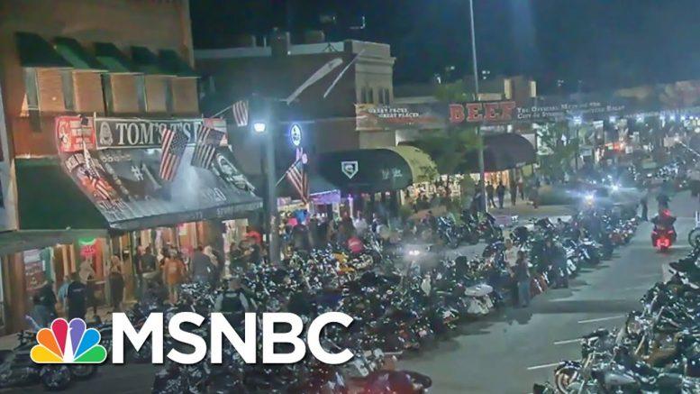 Thousands Attend South Dakota Biker Rally With No Mask Mandate   MSNBC 1