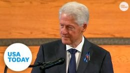 Bill Clinton remembers John Lewis as working for his 'beloved community' | USA TODAY 9