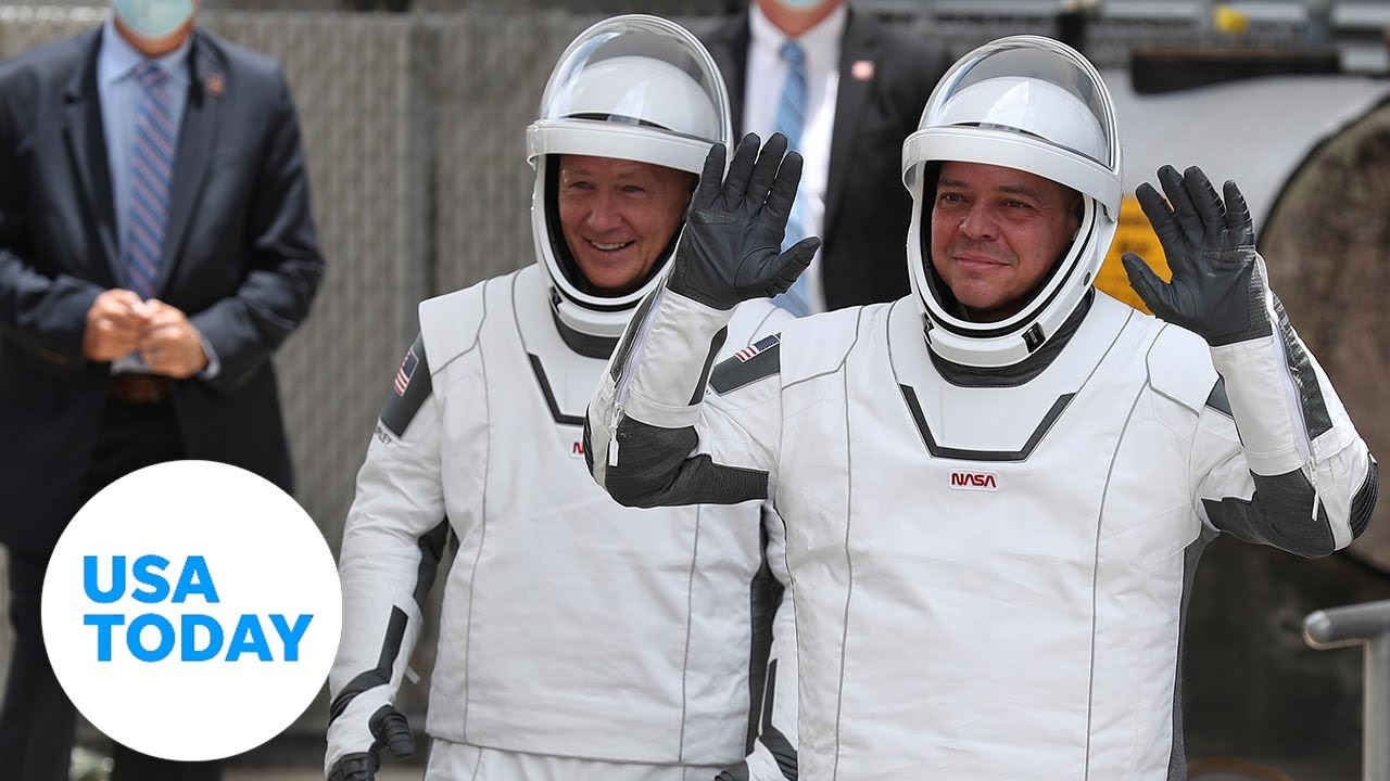 SpaceX astronauts hold news conference after test flight and splashdown   USA TODAY 8