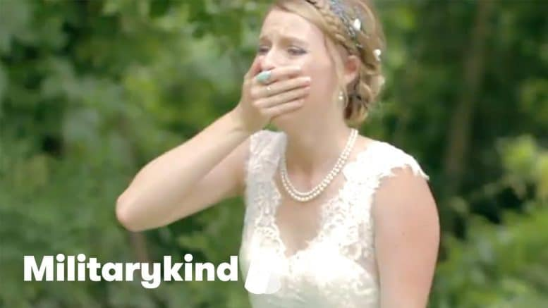 Marine makes bride cry on her wedding day   Militarykind 1