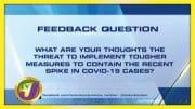 TVJ News: Feedback Question - August 7 2020 4