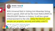 No American President Has Ever Suggested Delaying A General Election | MTP Daily | MSNBC 5