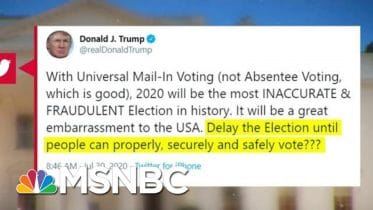 No American President Has Ever Suggested Delaying A General Election   MTP Daily   MSNBC 6