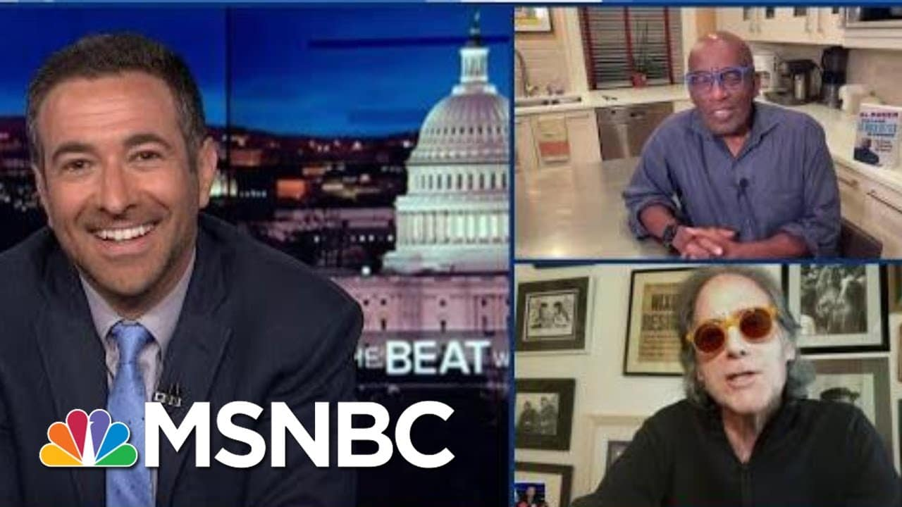 Amidst Mask Reversal, Richard Lewis Roasts Trump, Toasts Roker And Takes Over The News   MSNBC 9