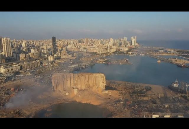 Drone video shows the wide scope of disaster in Beirut after a blast levelled the city's port area. 1