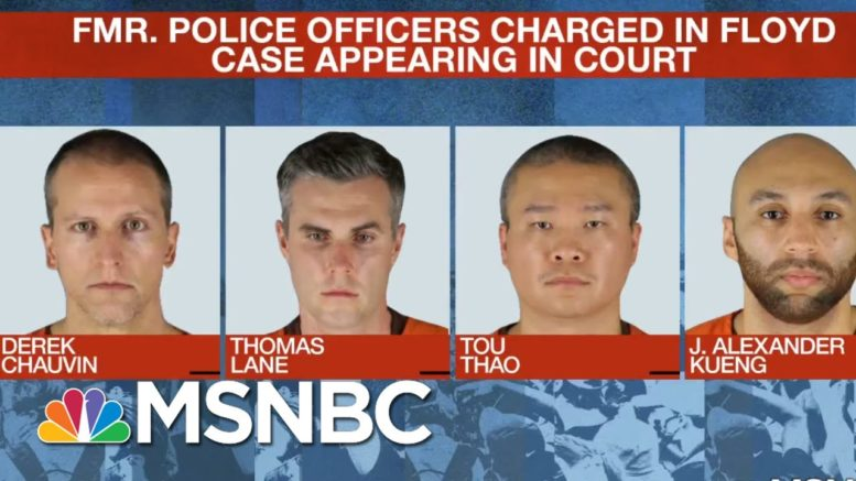 Ex-Officers Charged In George Floyd Death Oppose Being Tried Together   Craig Melvin   MSNBC 1