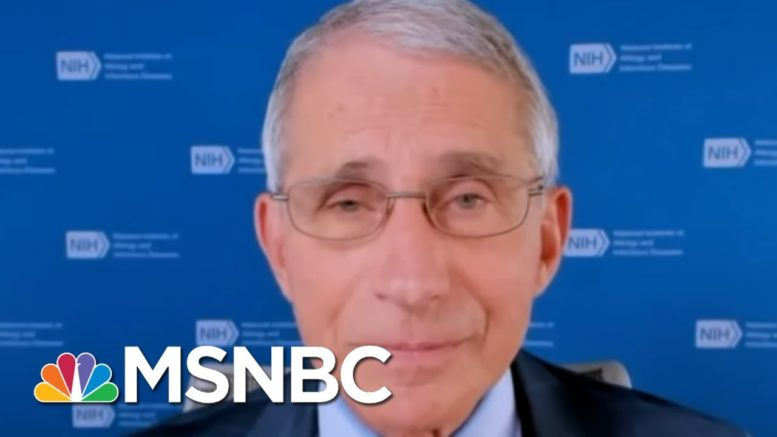 'The System Works': Fauci Assures Trials Will Find A Safe Coronavirus Vaccine   MSNBC 1