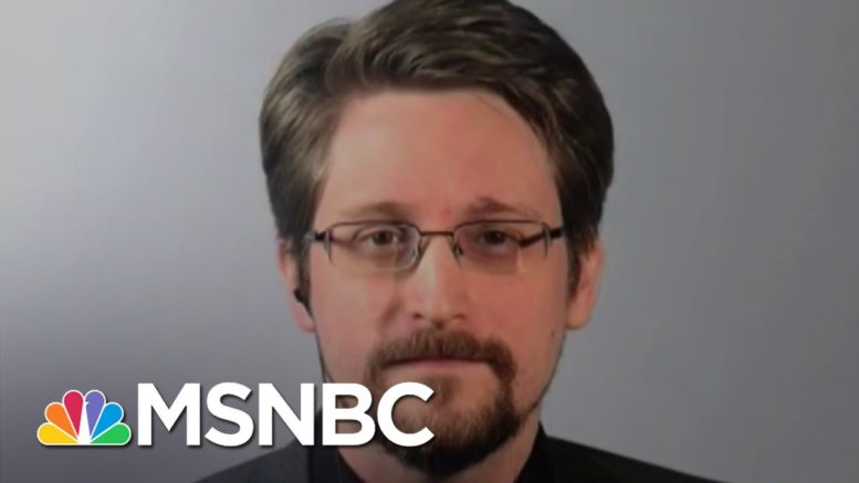 Snowden Reacts To Trump's Remarks About A Potential Pardon | The 11th Hour | MSNBC 1
