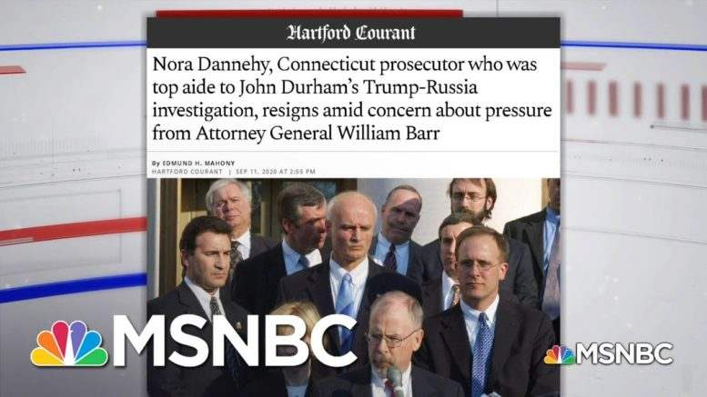 What To Know About The Resignation Of A Top Deputy Investigating Origins Of Russia Probe | MSNBC 1