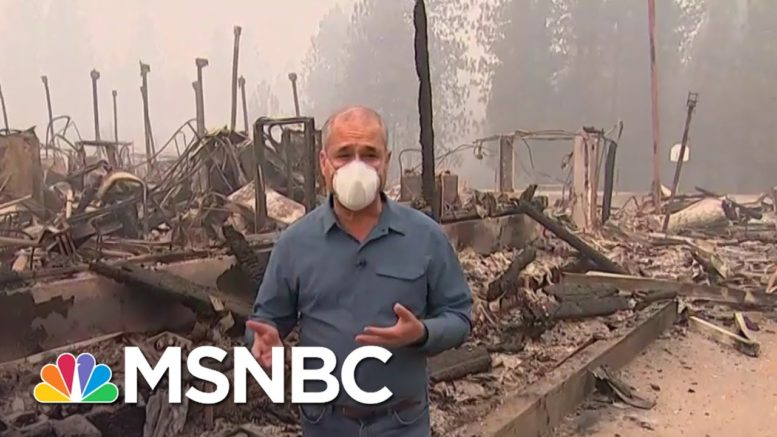 Dense Smoke Clouds The West Coast as Wildfires Continue   MSNBC 1