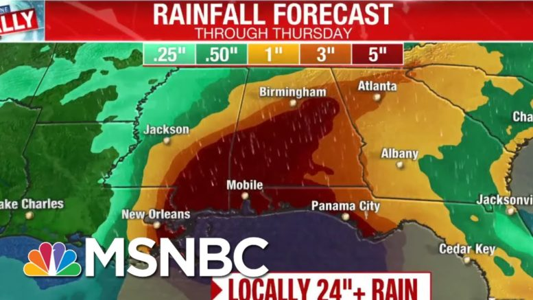 Sally Upgraded To Hurricane In 'Most Active' Storm Season Since 2005 | Andrea Mitchell | MSNBC 1