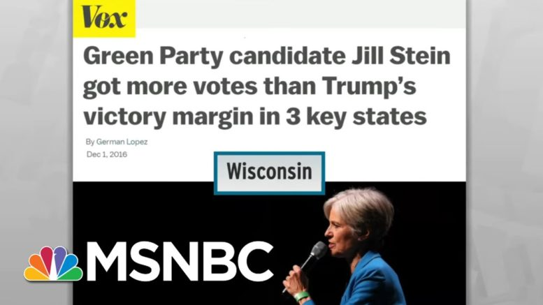 Court Foils Republican Green Party Ballot Scam To Sap Democratic Votes In Wisconsin | MSNBC 1