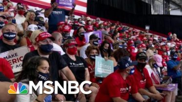 Trump Holds Indoor Rally In Arizona; Crowd Told To Wear Mask At Key Moment | Morning Joe | MSNBC 5