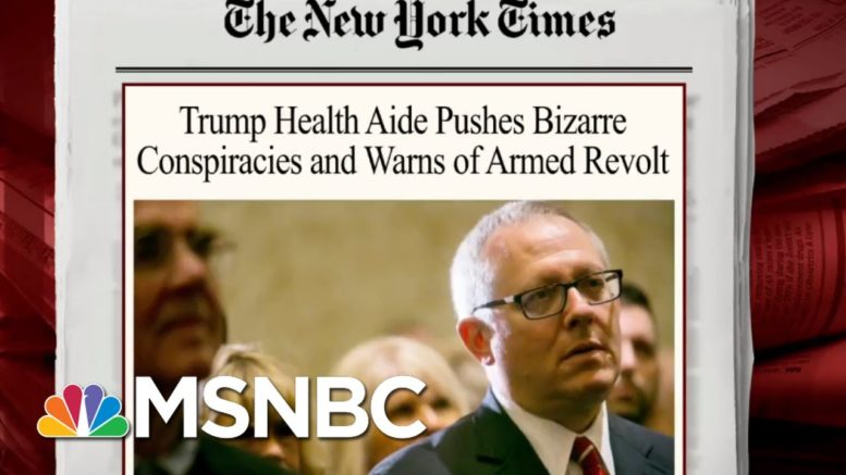 Trump Health Aide Pushes Conspiracy Theories | Morning Joe | MSNBC 1