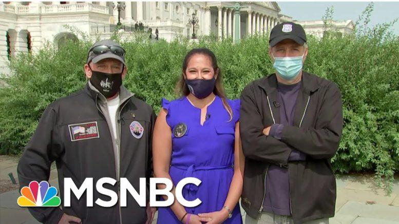 Jon Stewart, John Feal Backing Bill To Help Veterans Affected By Toxic Burn Pits | MSNBC 1
