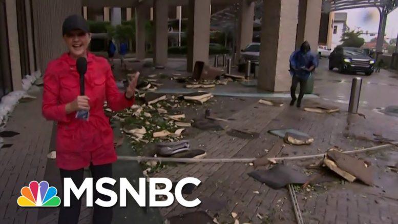 Hurricane Sally Sends Debris 'Flying Through The Air' In Mobile, Ala. | Stephanie Ruhle | MSNBC 1