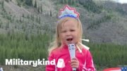 Oh say can this toddler sing! | Militarykind 3