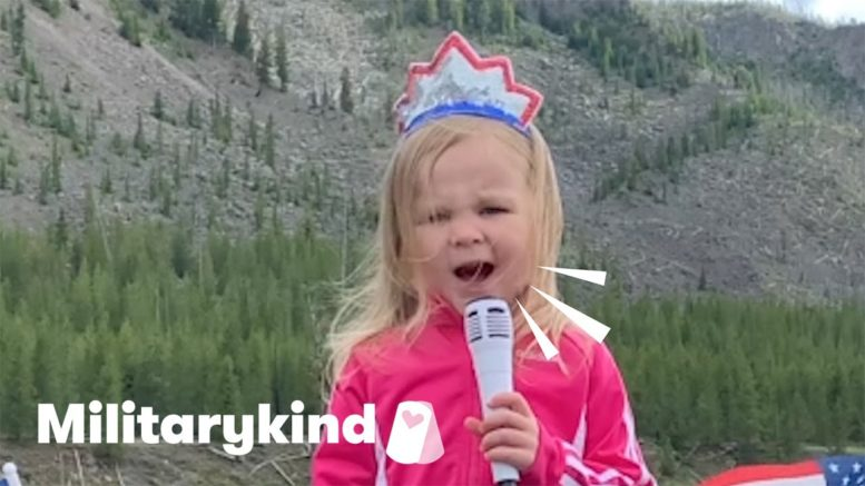 Oh say can this toddler sing! | Militarykind 1