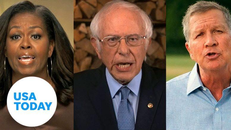 Michelle Obama, Bernie Sanders headline first night of DNC focused on unity | USA TODAY 1