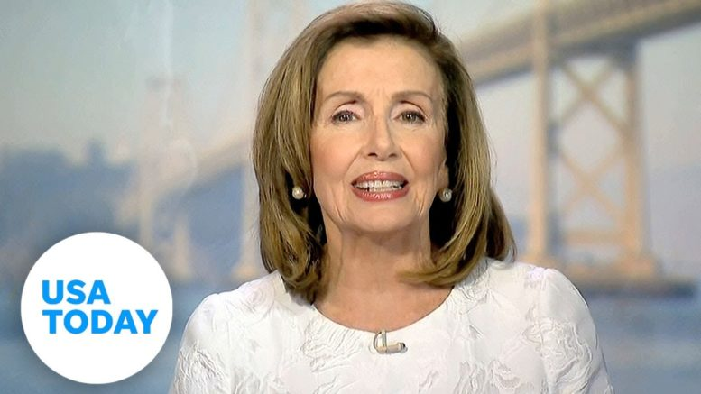 Nancy Pelosi delivers remarks to the Democratic National Convention | USA TODAY 1