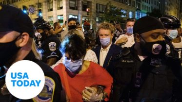 'What about Breonna?' Protesters surround Sen. Rand Paul after RNC | USA TODAY 6