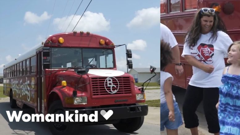 This big, red bus brings hope, food and fun   Womankind 1