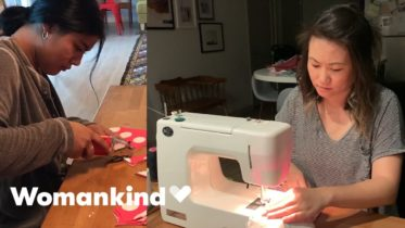Aunties form ultimate sewing squad to save lives | Womankind 6