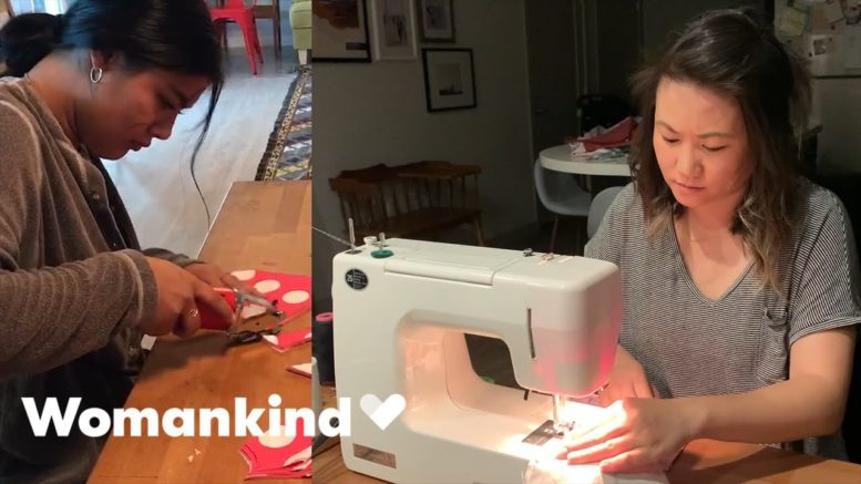 Aunties form ultimate sewing squad to save lives | Womankind 1