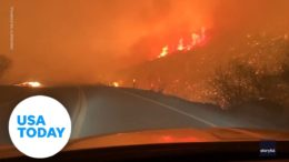 Man captures Valley Fire on video as it scorches the hillside through Japatul Valley | USA TODAY 6