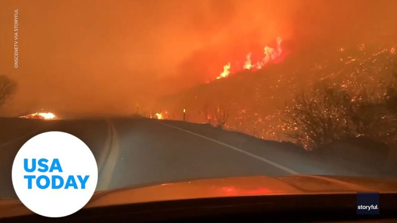 Man captures Valley Fire on video as it scorches the hillside through Japatul Valley | USA TODAY 1