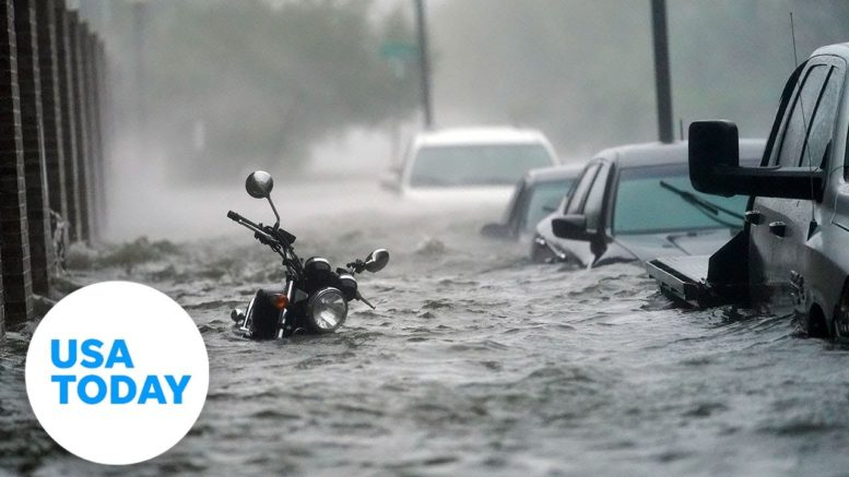 Hurricane Sally batters Pensacola Beach as it makes landfall Wednesday | USA TODAY 1