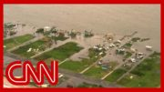 Aerial footage shows massive flooding in Hurricane Laura aftermath 5