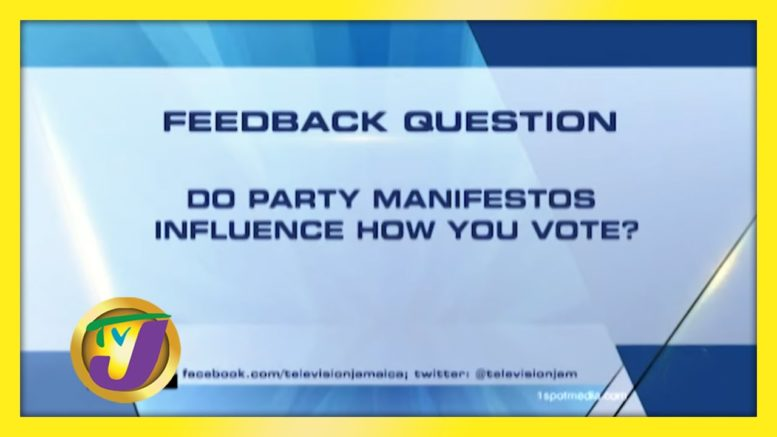 TVJ News: Feedback Question - August 27 2020 1