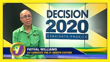 JLP Candidate for St. Andrew Eastern Fayval Williams: Decision 2020 Jamaica Vote 6