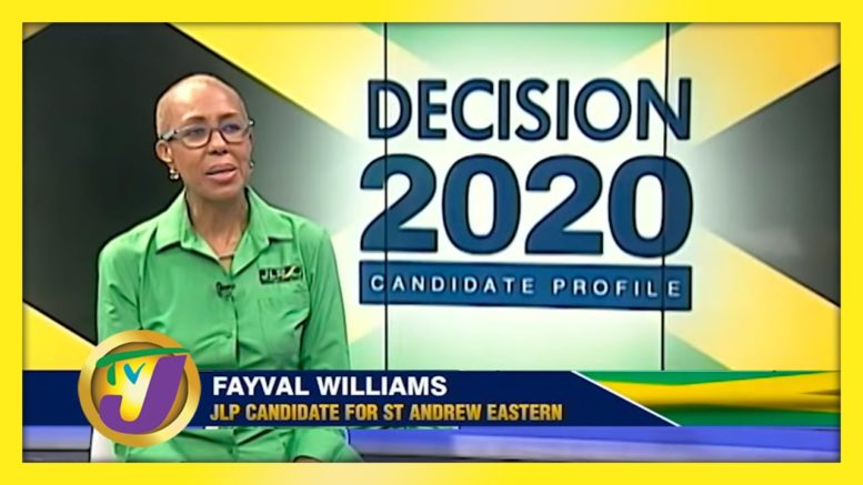 JLP Candidate for St. Andrew Eastern Fayval Williams: Decision 2020 Jamaica Vote 1