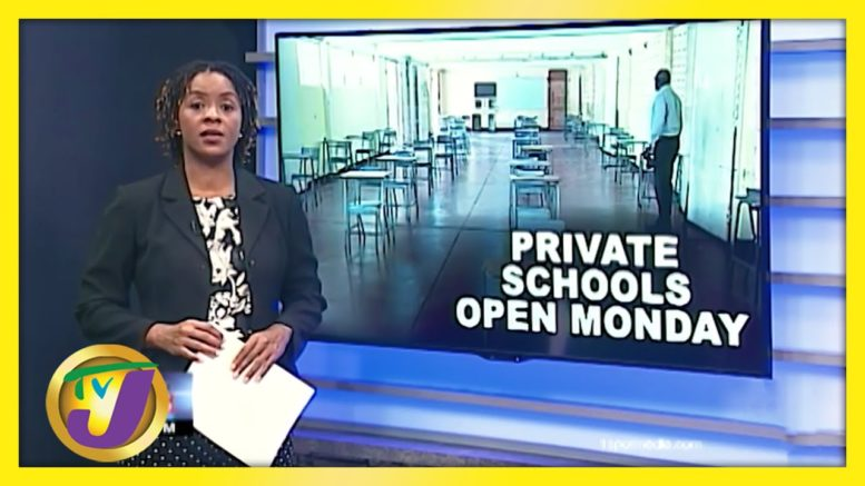 Private Schools Open on Monday - September 1 2020 1