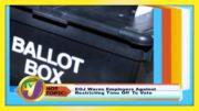 EOJ Warns Employers: TVJ Hot Topics - September 3 2020 4