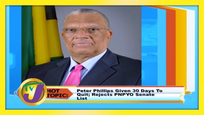 Dr. Peter Phillips Given 30 Days to Quit; Rejects PNPYO Senate List - September 15 2020 1