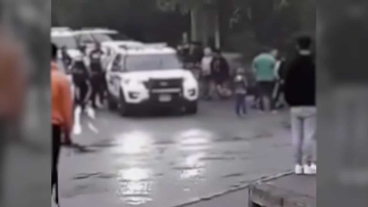 Mounties swarmed by teens, young adults in Surrey, B.C. 4